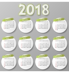 Year calendar design vector image
