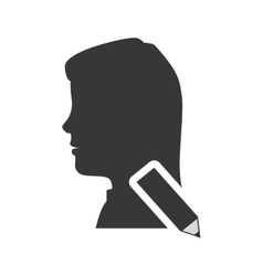 Avatar woman icon vector
