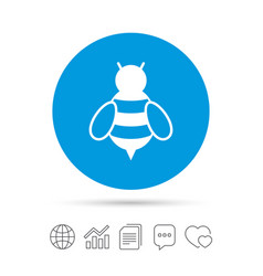 bee sign icon honeybee or apis symbol vector image