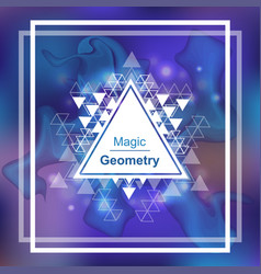 Magic geometry background with triangle vector