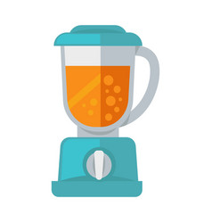 Blue mixer with cocktail vector