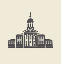 Icon of old administrative building with columns vector