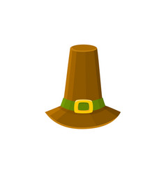 Comic style pilgrim hat thanksgiving day symbol vector