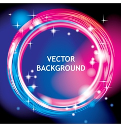 Light ring background vector image