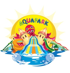 Aquapark octopus vector