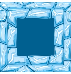 square frame on Ice seamless pattern vector image