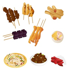 Filipino prepared food vector