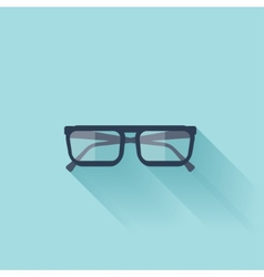 Flat glasses icon with shadow vector