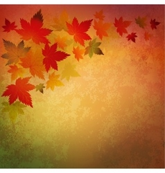 Abstract autumn vintage background vector
