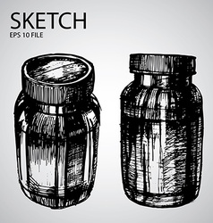 Set with sketched bottle vector