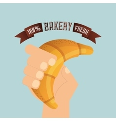 Bakery shop design vector
