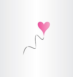 Heart shape balloon icon happy birthday design vector