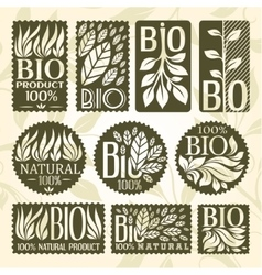 Bio labels collection vector