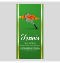 Tennis design sport icon isolated vector