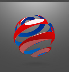 Abstract globe rotating arrows vector