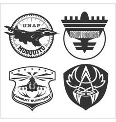 Air Force military emblem set design vector image