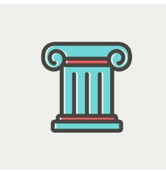 Ancient wall thin line icon vector image