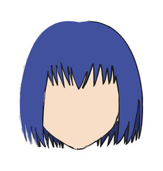 anime girl icon vector image