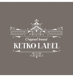 Art deco style elegant monogram - retro frame vector