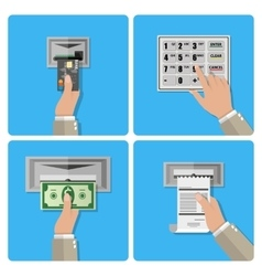 ATM terminal usage concept vector image vector image