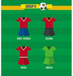 Brazil Soccer Championship 2014 Group H team vector image