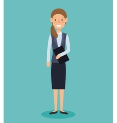 Businesswoman avatar elegant icon vector