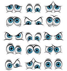 Cartoon faces with various expressions vector image