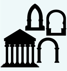 Classic arch and Portico an ancient temple vector image vector image