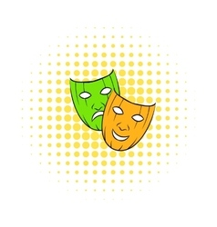 Comedy tragic and comics masks icon vector
