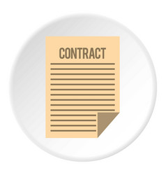 Contract icon flat style vector