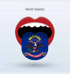 Electoral vote of north dakota abstract mouth vector