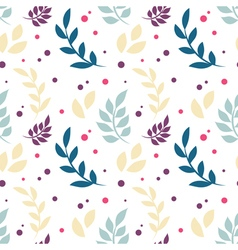 Elegant floral seamless pattern with plants vector
