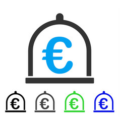 Euro storage flat icon vector