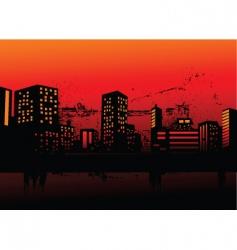 Evening cityscape vector