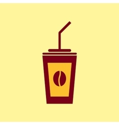 Fast food icon Coffee pictogram vector image vector image