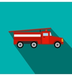 Fire truck flat icon vector