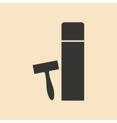 Flat in black and white mobile application shaving vector