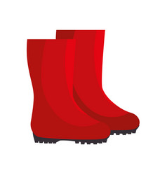 Garden boots animated vector
