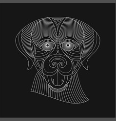 geometric animal vector image