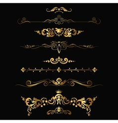 gold patterns vector image vector image