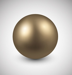Golden ball vector
