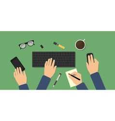 Hectic business workspace vector image vector image