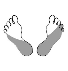 Human foot plant icon vector