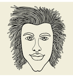 Lines art design of man vector