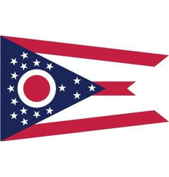 Ohio flag vector image