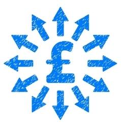 Pound money distribution grainy texture icon vector