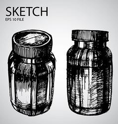 Set with sketched bottle vector