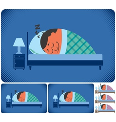 Sleeping man vector