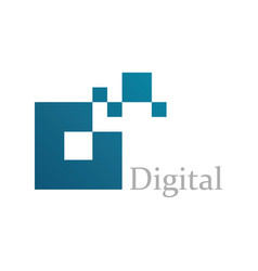 square digital logo vector image