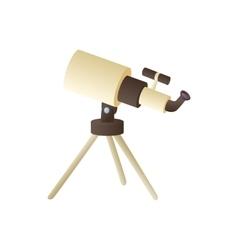 Telescope icon in cartoon style vector image